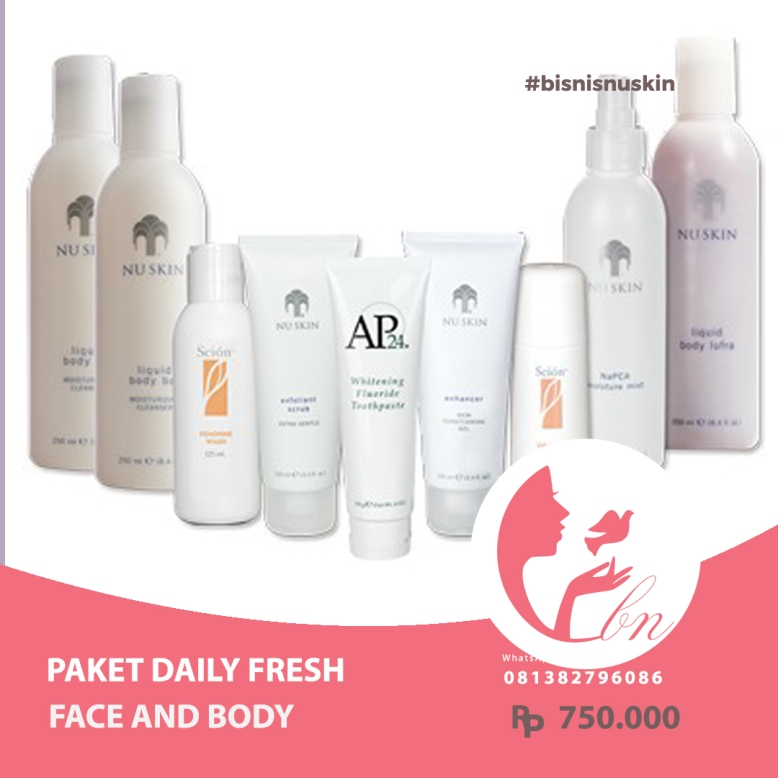 paket daily fresh face and body